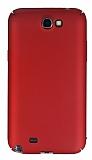 Samsung N7100 Galaxy Note 2 Tam Kenar Koruma Bordo Rubber Kılıf