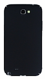 Samsung N7100 Galaxy Note 2 Tam Kenar Koruma Siyah Rubber Kılıf