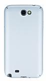 Samsung N7100 Galaxy Note 2 Tam Kenar Koruma Silver Rubber Kılıf
