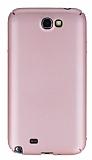 Samsung N7100 Galaxy Note 2 Tam Kenar Koruma Rose Gold Rubber Kılıf