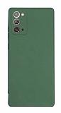 Samsung Galaxy Note 20 Kamera Korumalı Mat Koyu Yeşil Silikon Kılıf