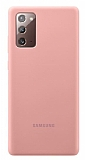 Samsung Galaxy Note 20 Orjinal Bronz Silikon Kılıf