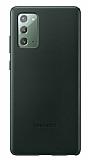 Samsung Galaxy Note 20 Orjinal Yeşil Deri Kılıf