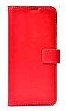 Samsung Galaxy Note 20 Ultra Cüzdanlı Kapaklı Kırmızı Deri Kılıf
