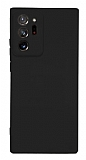 Samsung Galaxy Note 20 Ultra Kamera Korumalı Mat Siyah Silikon Kılıf