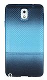 Samsung Galaxy Note 3 Mavi Noktalı Ultra İnce Silikon Kılıf