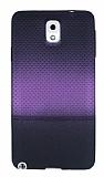 Samsung Galaxy Note 3 Mor Noktalı Ultra İnce Silikon Kılıf