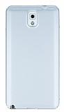 Samsung Galaxy Note 3 Tam Kenar Koruma Silver Rubber Kılıf