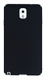 Samsung Galaxy Note 3 Tam Kenar Koruma Siyah Rubber Kılıf
