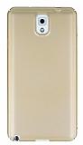 Samsung Galaxy Note 3 Tam Kenar Koruma Gold Rubber Kılıf