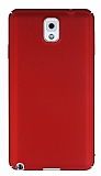Samsung Galaxy Note 3 Tam Kenar Koruma Kırmızı Rubber Kılıf