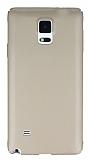 Samsung Galaxy Note 4 Tam Kenar Koruma Gold Rubber K�l�f