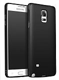 Samsung Galaxy Note 4 Tam Kenar Koruma Siyah Rubber Kılıf