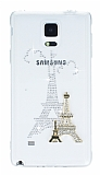 Samsung Galaxy Note 4 Ta�l� Eiffel �effaf Silikon K�l�f