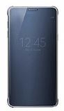 Samsung Galaxy Note 5 Clear View Uyku Modlu Siyah Kılıf