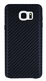 Samsung Galaxy Note 5 Karbon Görünümlü Siyah Rubber Kılıf