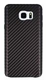 Samsung Galaxy Note 5 Karbon Görünümlü Kahverengi Rubber Kılıf