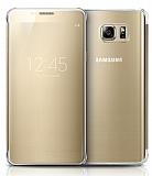 Samsung Galaxy Note 5 Orjinal Clear View Uyku Modlu Gold Kılıf