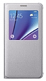 Samsung Galaxy Note 5 Orjinal Pencereli View Cover Silver K�l�f