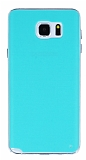 Samsung Galaxy Note 5 Şeffaf Kenarlı Su Yeşili Silikon Kılıf