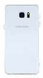 Samsung Galaxy Note 5 �effaf Silikon Kenarl� �effaf Rubber K�l�f