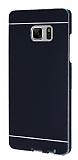 Samsung Galaxy Note FE Aynalı Siyah Rubber Kılıf