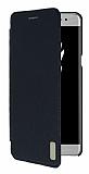 Samsung Galaxy Note 7 Kapaklı Siyah Deri Kılıf
