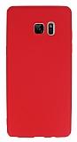 Samsung Galaxy Note FE Mat Kırmızı Silikon Kılıf