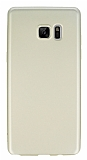 Samsung Galaxy Note FE Mat Krem Silikon Kılıf