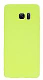 Samsung Galaxy Note 7 Mat Neon Sarı Silikon Kılıf