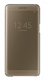 Samsung Galaxy Note 7 Orjinal Clear View Uyku Modlu Gold K�l�f