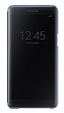 Samsung Galaxy Note 7 Orjinal Clear View Uyku Modlu Siyah K�l�f