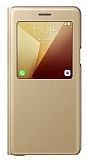 Samsung Galaxy Note 7 Orjinal Pencereli S View Cover Gold K�l�f