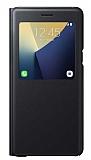 Samsung Galaxy Note 7 Orjinal Pencereli S View Cover Siyah K�l�f
