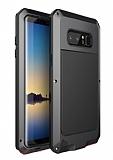 Dafoni Armour Plate Samsung Galaxy Note 8 Ultra Koruma Alüminyum Siyah Kılıf