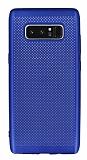 Samsung Galaxy Note 8 Delikli Mat Lacivert Silikon Kılıf