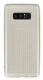 Samsung Galaxy Note 8 Delikli Mat Gold Silikon Kılıf
