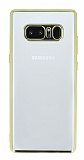 Samsung Galaxy Note 8 Gold Kenarlı Şeffaf Silikon Kılıf