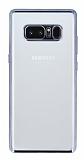 Samsung Galaxy Note 8 Siyah Kenarlı Şeffaf Silikon Kılıf