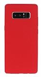Samsung Galaxy Note 8 Kadife Dokulu Kırmızı Silikon Kılıf