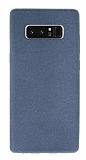 Samsung Galaxy Note 8 Kadife Dokulu Gri Silikon Kılıf