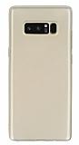 Samsung Galaxy Note 8 Mat Gold Silikon Kılıf