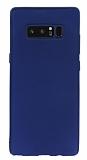 Samsung Galaxy Note 8 Mat Lacivert Silikon Kılıf