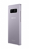 Samsung Galaxy Note 8 Orjinal Clear Cover Şeffaf Mor Rubber Kılıf