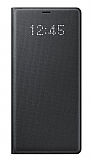 Samsung Galaxy Note 8 Orjinal Led Wallet Cover Siyah Kılıf