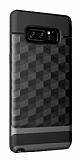 Samsung Galaxy Note 8 Prizma Desenli Ultra Koruma Dark Silver Kılıf