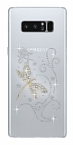 Samsung Galaxy Note 8 Taşlı Yusufçuk Şeffaf Silikon Kılıf