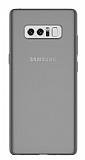 Samsung Galaxy Note 8 Ultra İnce Şeffaf Siyah Silikon Kılıf
