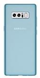 Samsung Galaxy Note 8 Ultra İnce Şeffaf Mavi Silikon Kılıf