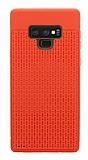 Samsung Galaxy Note 9 Delikli Kırmızı Silikon Kılıf